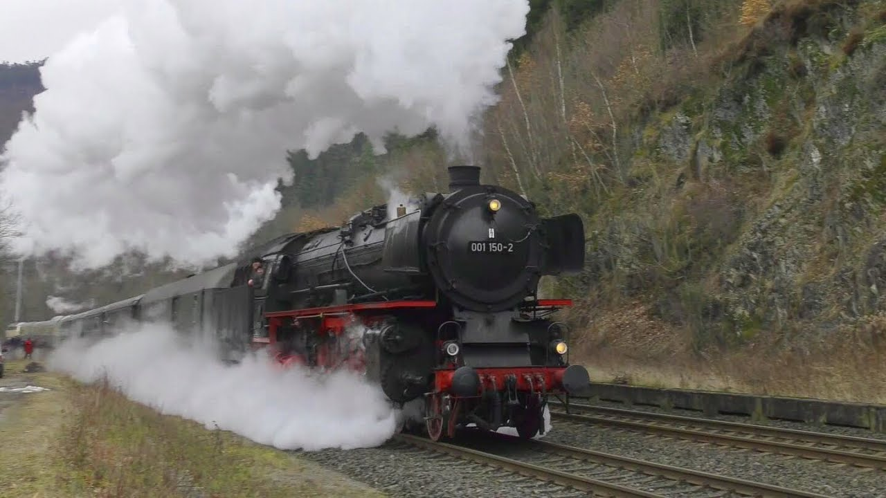 The Sound of Steam Trains (HD) - YouTube