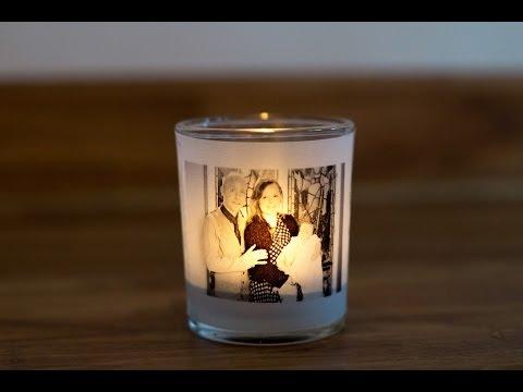 Make An Illuminated Votive Tea light Holder with A Custom Photo