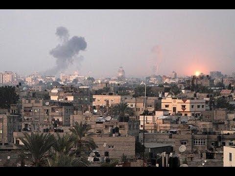 Massive Israeli Strikeback on Gaza Strip Disturbing Video