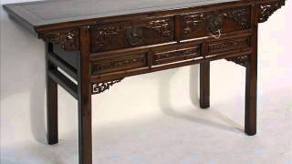 Antique Chinese Carved Desk Or Console Table_bk0039y.wmv