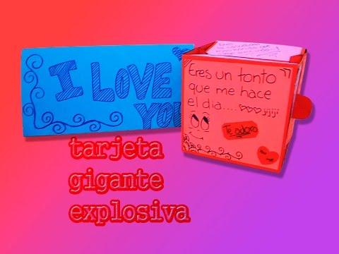 tarjeta gigante explosiva... :DD