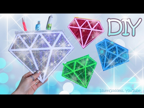 Thumbnail: How To Make A Diamond Pencil Case – DIY Gemstones Pencil Cases Out Of Tape, Paper and Glitter