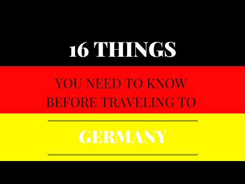 16 things to know before traveling to Germany
