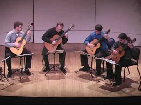 Beethoven Symphony 7, II. Allegretto played by the Richmond Guitar Quartet