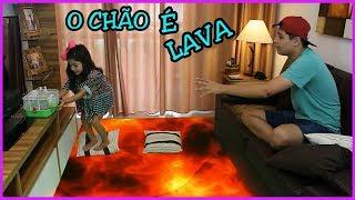 THE FLOOR IS LAVA / O CHÃO É LAVA SALVA OS BICHINHOS (ESQUILOS)