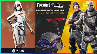 'NOUVEAU'FREE EXCLUSIVE Twitch Prime SKINS à Fortnite! Débloquez NOUVEAU Pickaxe! (Fortnite Battle Royale)