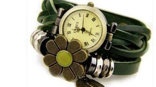 Красивые черные женские часы из Китая. Обзор посылки
