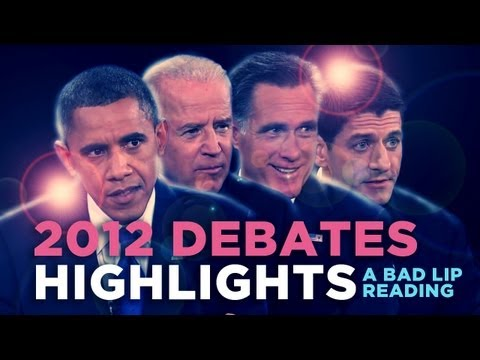 '2012 Debates Highlights' — A Bad Lip Reading of the 2012 US Presidential Debates