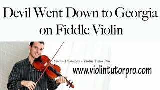 Devil Went Down to Georgia on Fiddle Violin