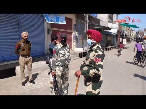 Curfew In NABHA - A Heavy Police Force Led By The DSP In Curfew, Nabha City | DSP Nabha Varinderjeet