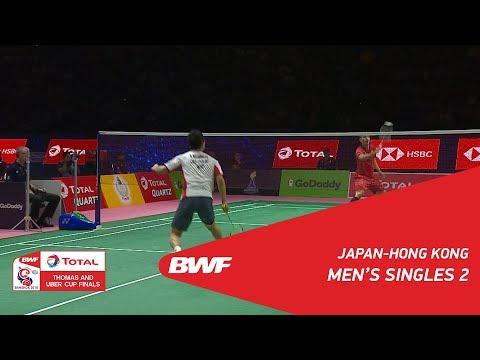 Thomas Cup | MS2 | Kenta NISHIMOTO (JPN) vs WONG Wing Ki Vincent (HKG) | BWF 2018