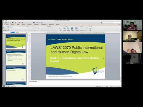 Public International Law: Introduction (Tutorial)