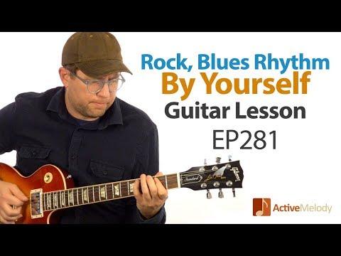 Rock, blues rhythm that you can play  yourself on guitar  Blues Rhythm Guitar Lesson  EP281