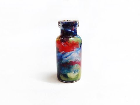 how to drawing by watercolor in a glass bottle