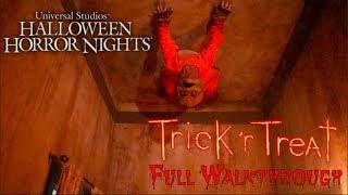 Trick 'r Treat (Full Maze Walkthrough HD) Halloween Horror Nights Hollywood 2018
