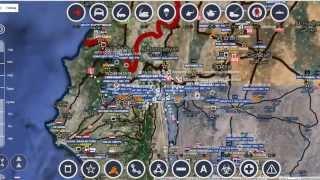 Обзор карты боевых действий в Сирии за 10. 10. 2015