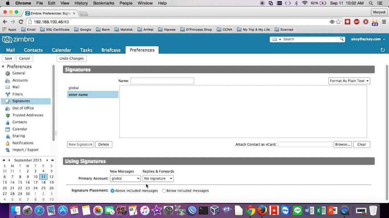 Create signatures on zimbra mail server 8 youtube create signatures on zimbra mail server 8 xflitez Image collections