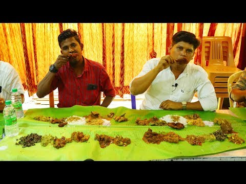 tasting 25 non veg items at a same times in ubm hotel perundurai village food channel kerala cooking pachakam recipes vegetarian snacks lunch dinner breakfast juice hotels food   kerala cooking pachakam recipes vegetarian snacks lunch dinner breakfast juice hotels food