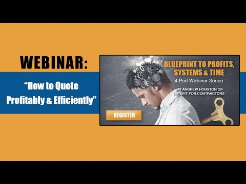 Webinar— How to Quote Profitably & Efficiently (sponsored by Annex Business Media)