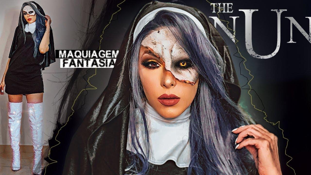 A Freira Maquiagem Halloween The Nun Youtube
