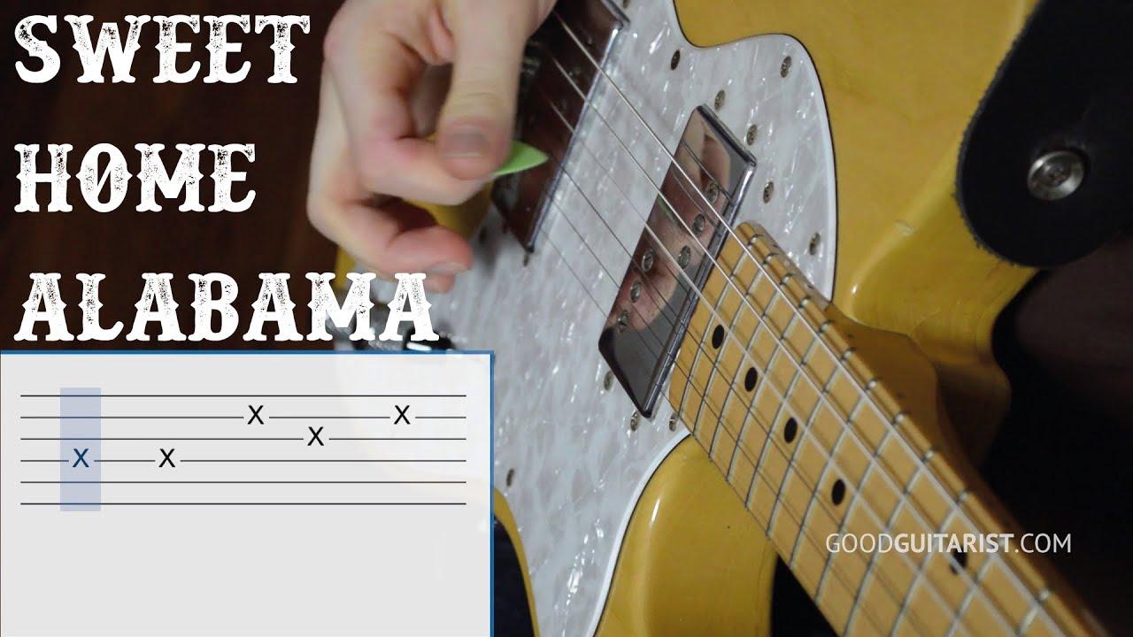 Learn Sweet Home Alabama Step By Step Guitar Walkthrough How