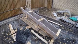 самодельный желоб для заливки бетона: изготовление и использование