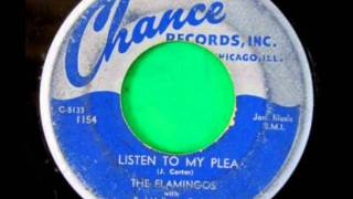 FLAMINGOS - Cross over the bridge / Listen to my Plea - CHANCE 1154 - 1954