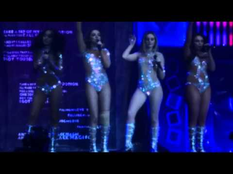 Jade Little Mix pops knee out on stage! rpool Echo Arena 22 March 2016