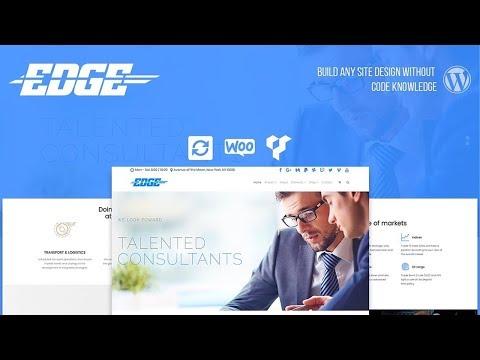 Edge WordPress Theme Home-Page Presentation - Responsive Business Template