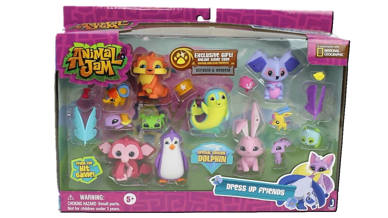 Animal Jam Dress Up Friends Set Unboxing Toy Review With Exclusive