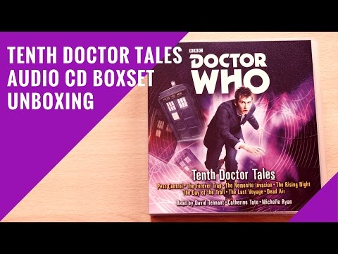 Doctor Who: 'Tenth Doctor Tales' Audio CD Box Set Unboxing