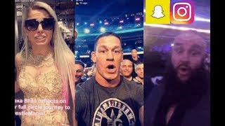 WWE WrestleMania Snapchat/Instagram ft. John Cena, Alexa Bliss, Braun Strowman, Charlotte n MORE