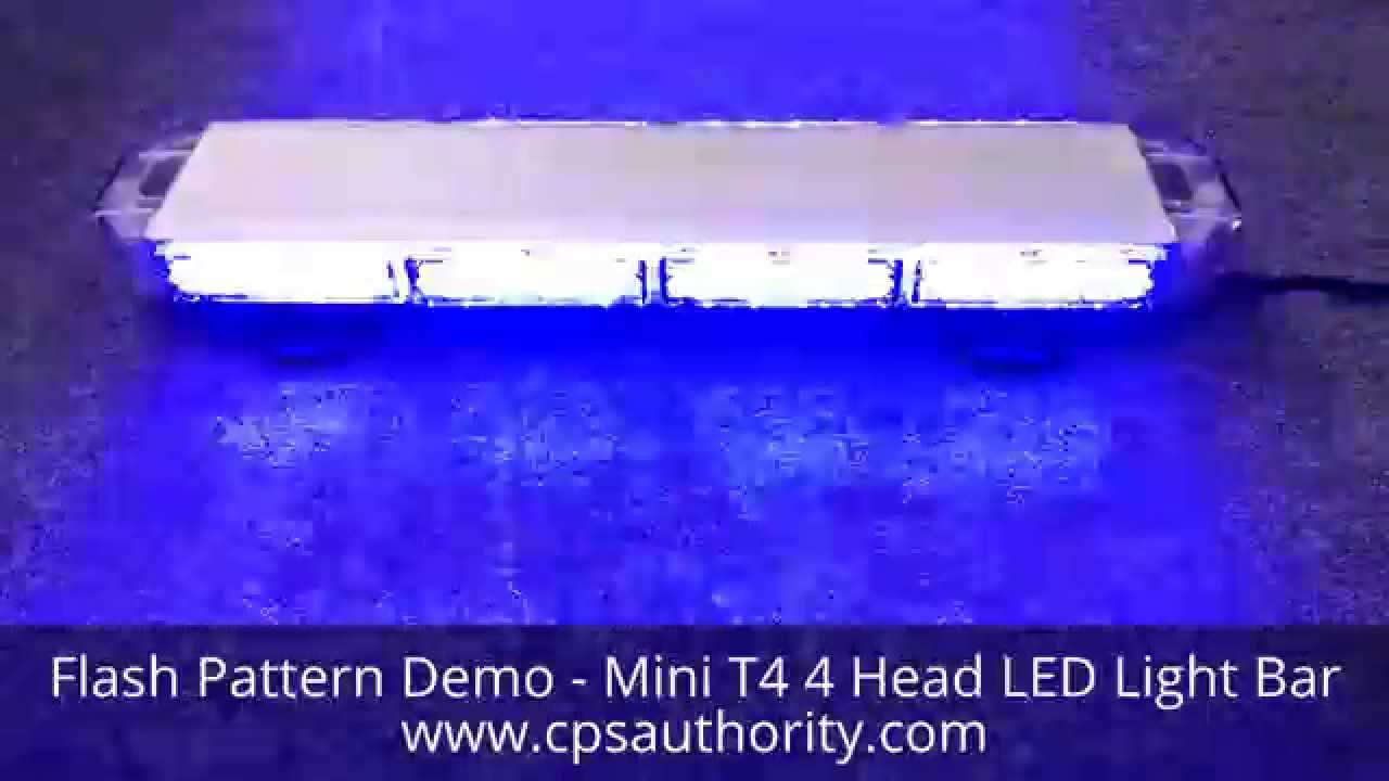Mini t4 led blue light bar emergency vehicle lights cps mini t4 led blue light bar emergency vehicle lights cps authority youtube aloadofball Image collections