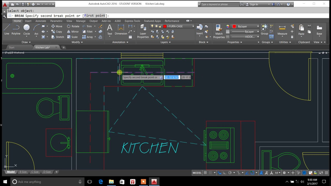 autocad break command explained - autocad line break tutorial