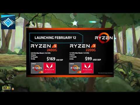 LA NUEVA GENERACION DE APUS CON RADEON VEGA 11   AMD APU´S 2018