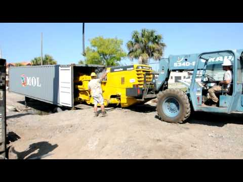 Dismantling & Containerization of Komatsu WA380 Loader by Big Iron, Inc.