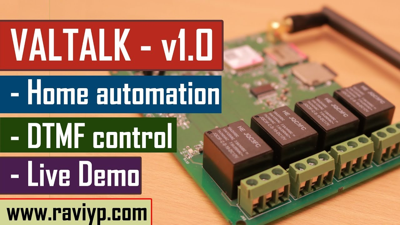 Designing a DTMF based Home automation system - GSM | Relay control