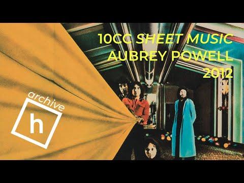 10cc Sheet Music artwork by Aubrey Powell