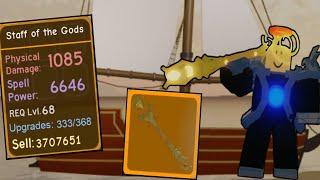 ¡Tengo el legendario bastón de los dioses, arma de mago OP! (Roblox Dungeon Quest)