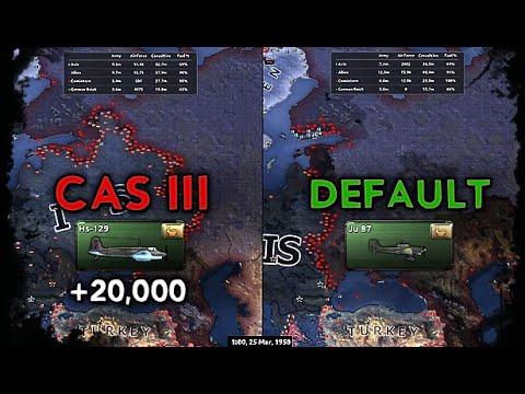 [HoI4] Double Timelapse - Barbarossa [Close Air Support] Comparison |