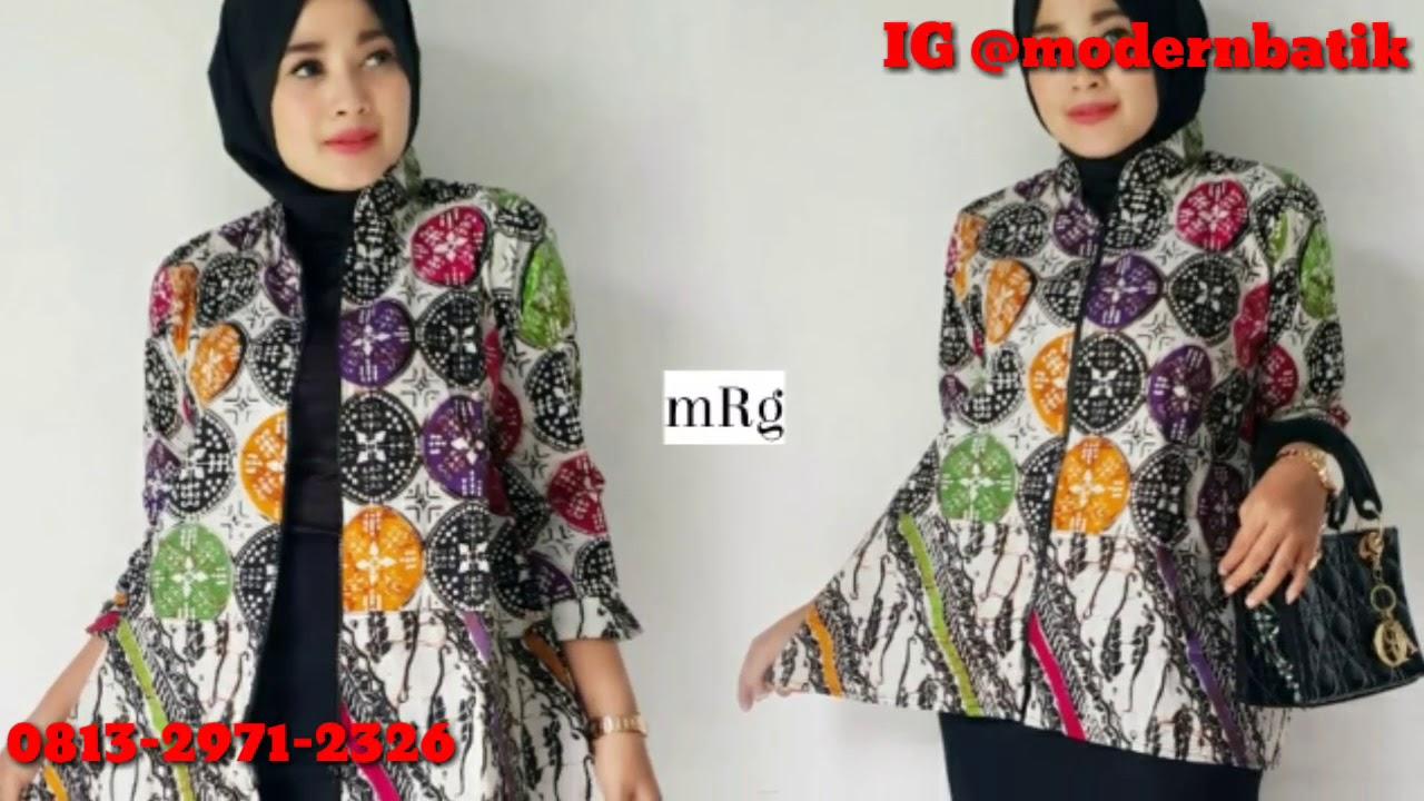 Model Dres Dan Blus Batik Modern Solo 2018 Model Baju Batik Modern