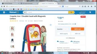 Minute Madness - Crayola Easel For Kids On Walmart Rollback