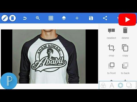 Cara Edit Desain Kaos/Baju Distro Mudah Dengan Android - Tutorial PicsArt Indonesia (Part 1).