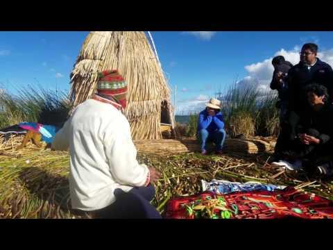 Uros Island, Lake Titicaca, Peru  Village Elder