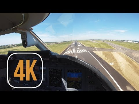 4K APPROACH AND LANDING IN PARIS LE BOURGET ON PRIVATE JET