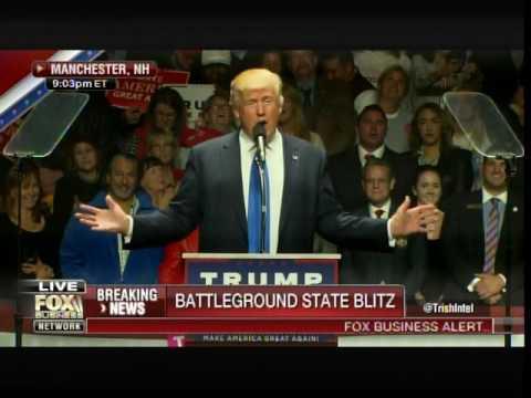 TRUMP IN NEW HAMPSHIRE: Tom Brady and Bill Belichick Endorse Trump for President!