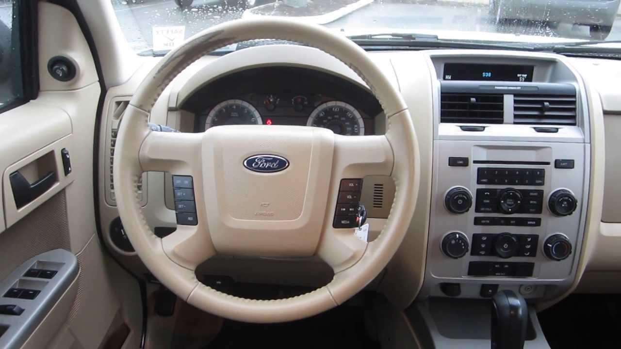 2009 Ford Escape White Stock 29422a Interior