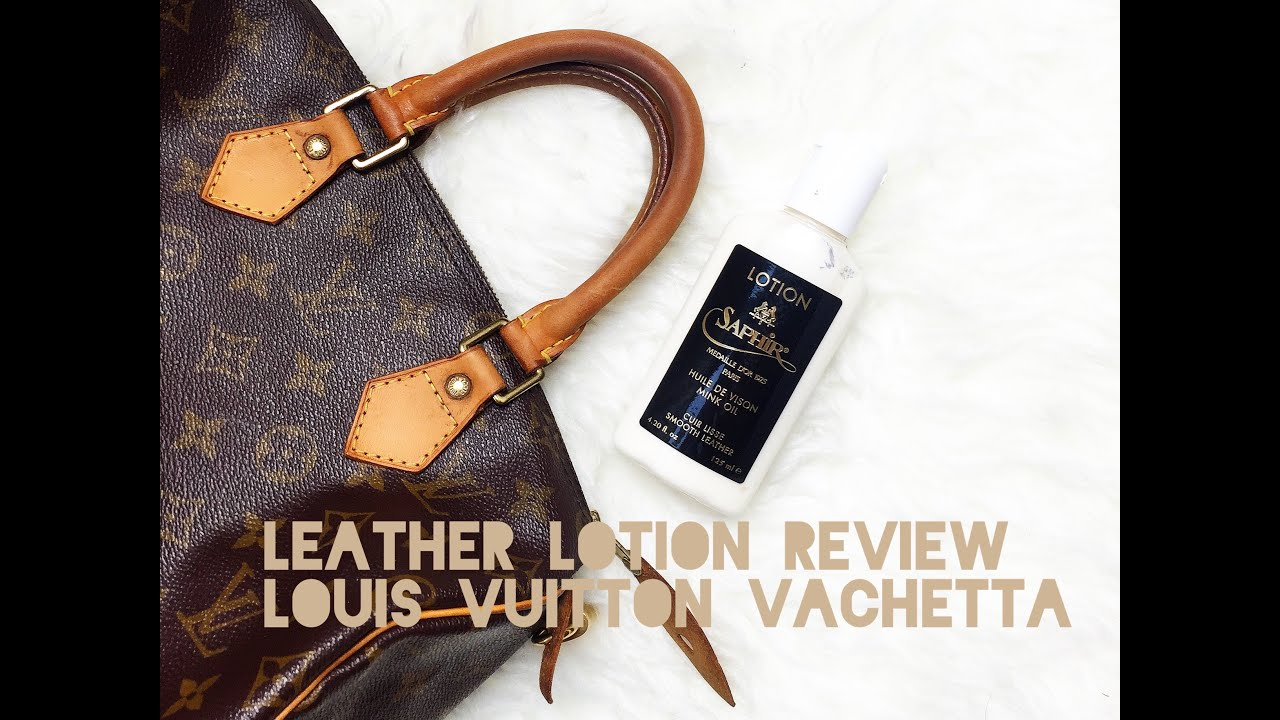 7958753fc389 LOUIS VUITTON VACHETTA CONDITION TEST - Saphir Leather Lotion! - YouTube