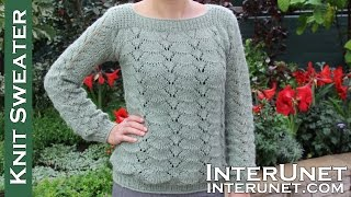 Long-sleeve lace sweater knitting pattern