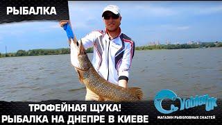 Трофейная щука! Рыбалка на Днепре в Киеве.